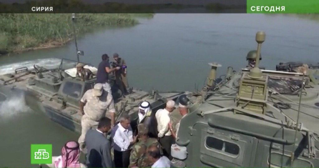 Syria And Russia Are Constructing Permanent Bridge Linking Banks Of Euphrates In Western Deir Ezzor