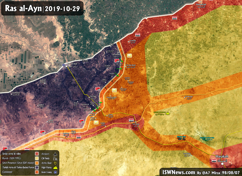 Turkish-backed Forces Attack Syrian Army Positions Near Ras al-Ayn (Map Update)