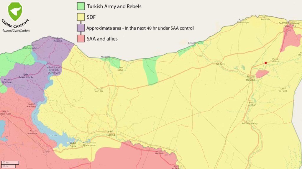 Kurdish-led SDF Says It Reached Deal With Damascus. Syrian Army Marches Towards Kobani