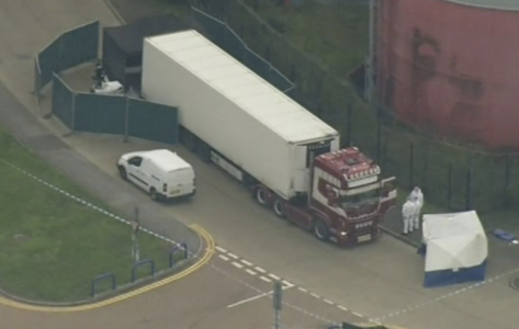 """""""Absolutely Horrendous"""": All 39 Dead Found By UK Police In Back Of Truck Were Chinese Nationals"""