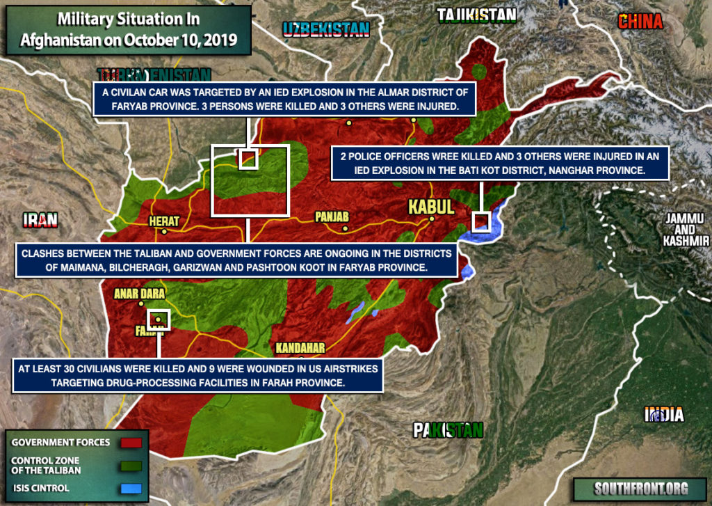 Military Situation In Afghanistan On October 10, 2019 (Map Update)