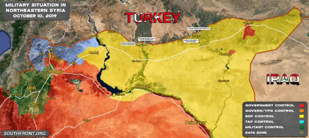 In Maps: Progress Of Turkey-led Forces' Advance On SDF Positions