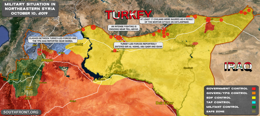 Map Update: Military Situation In Nortern Syria On October 10, 2019