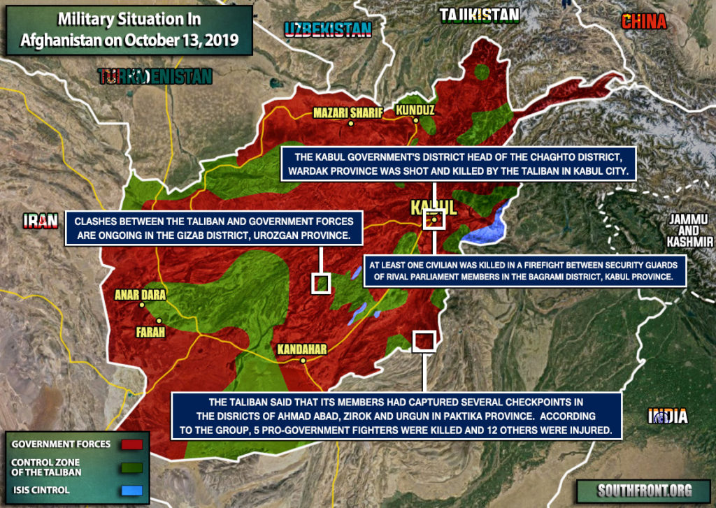 Military Situation In Afghanistan On October 13, 2019 (Map Update)