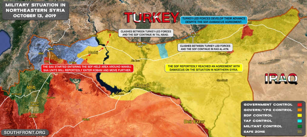 Military Situation In Northern Syria After SDF-Damascus Deal (Map Update)