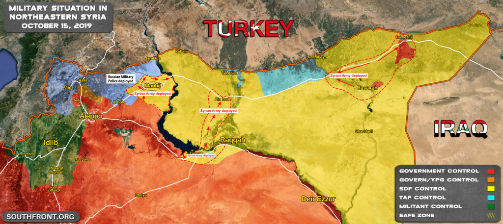 Map Update: Military Situation In Northern Syria After Handover Of Manbij To Syrian Army