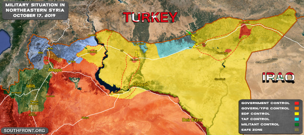 Map Update: Military Situation In Northern Syria Prior To US-Turkish Ceasefire Agreement