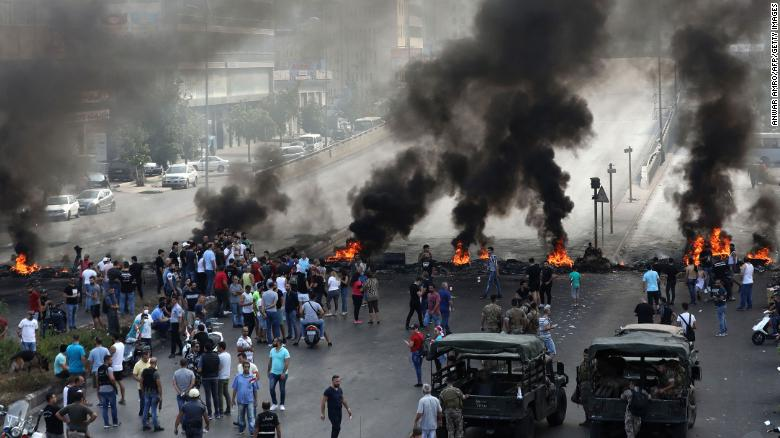 Violent Protests In Lebanon Against Austerity Measures And Controversial WhatsApp Tax