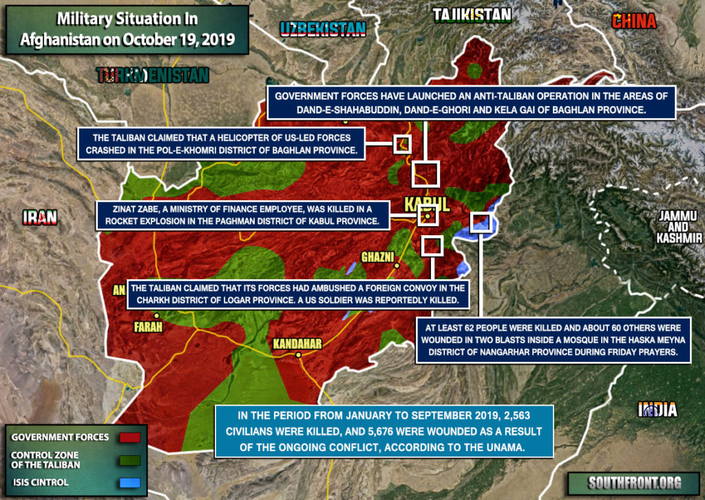 Military Situation In Afghanistan On October 19, 2019 (Map Update)