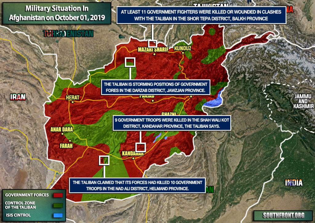 Military Situation In Afghanistan On October 1, 2019 (Map Update)