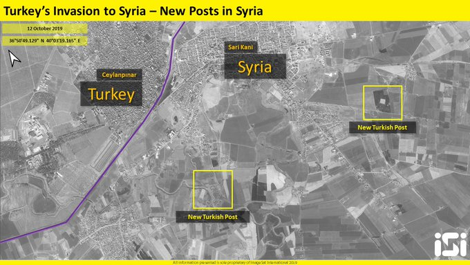 Satellite Images: Turkey Setting Up Military Posts In Captured Part Of Northeastern Syria