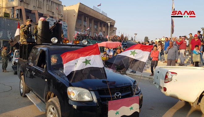 Syrian Army Completes Deployment Along Aleppo-Hasakah Highway East Of Euphrates (Photos)