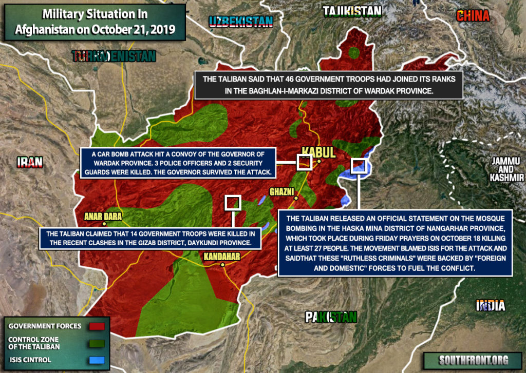 Military Situation In Afghanistan On October 21, 2019 (Map Update)