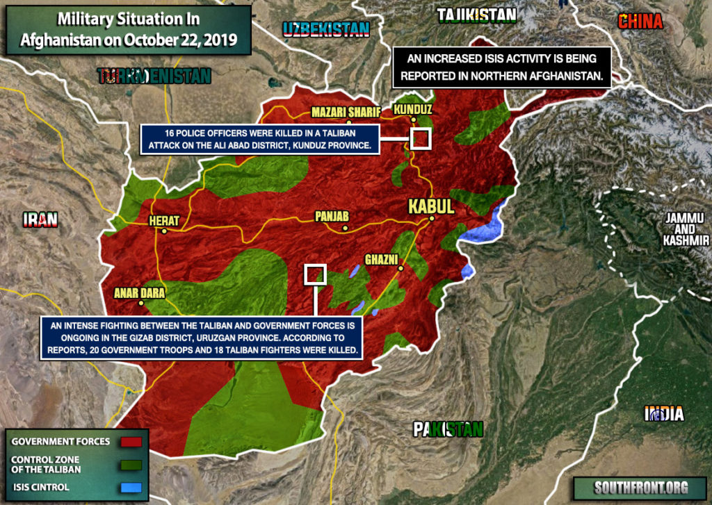 Military Situation In Afghanistan On October 22, 2019 (Map Update)