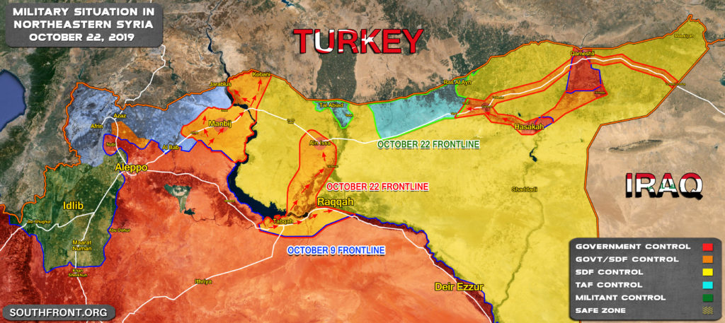 Comparison Of Military Situation In Northern Syria On October 9 And October 22 (Map Update)