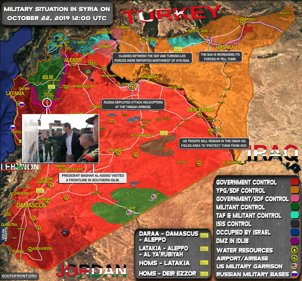 Military Situation In Syria On October 22, 2019 (Map Update)