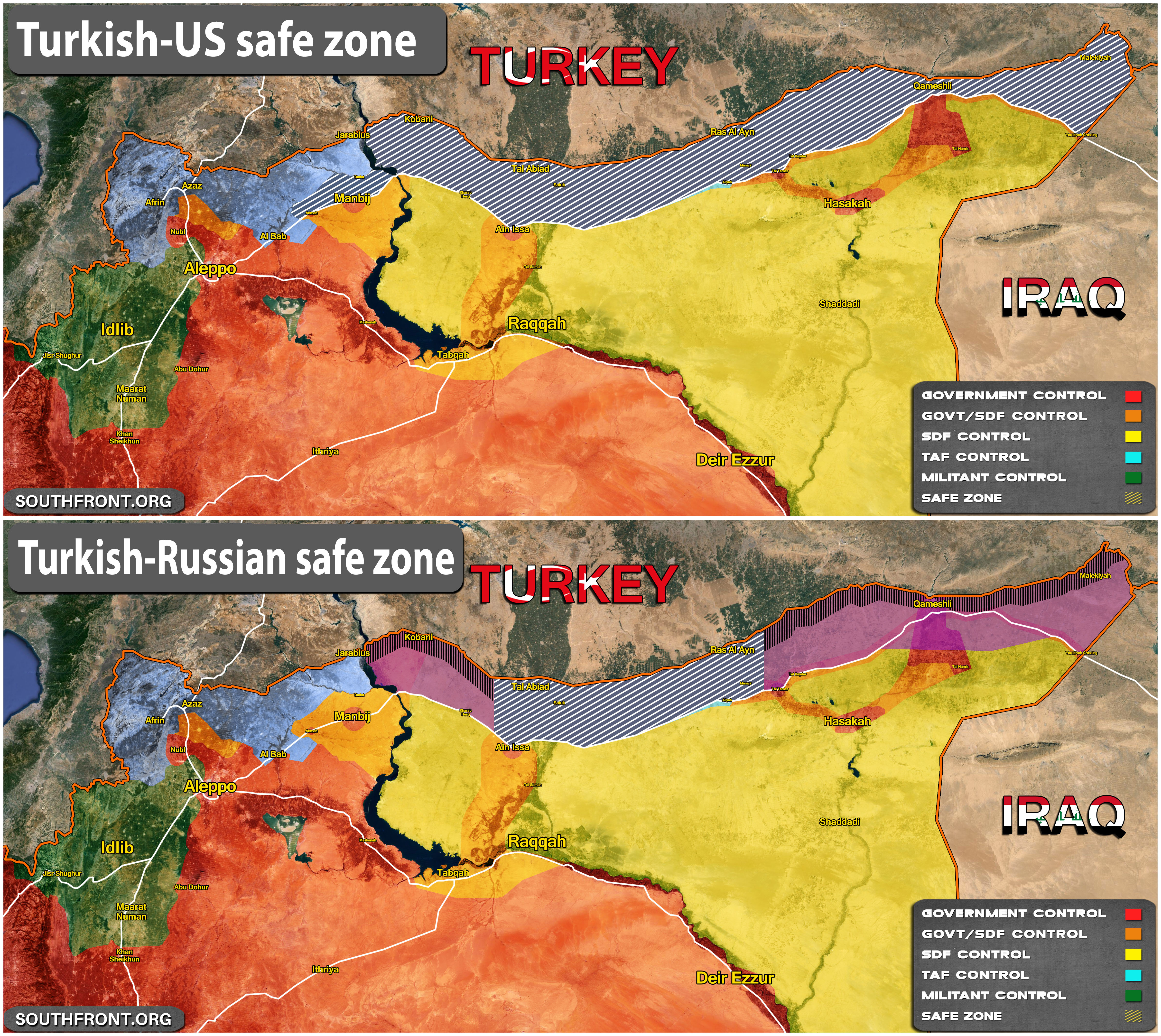 Map Comparison Turkish Us Safe Zone Vs