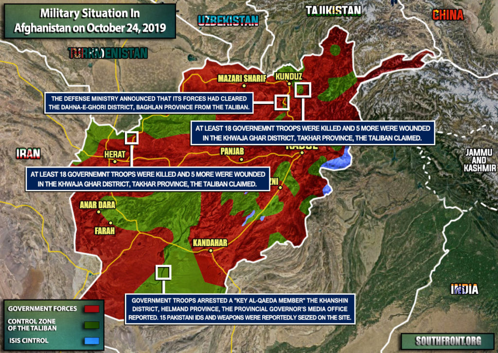 Military Situation In Afghanistan On October 24, 2019 (Map Update)
