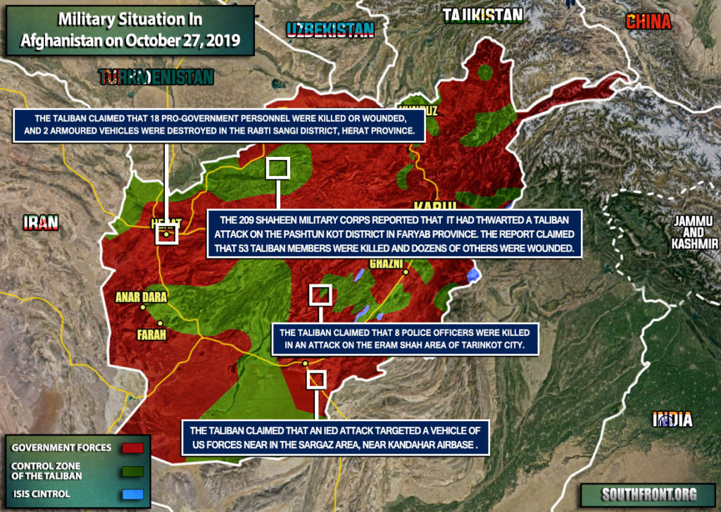 Military Situation In Afghanistan On October 27, 2019 (Map Update)