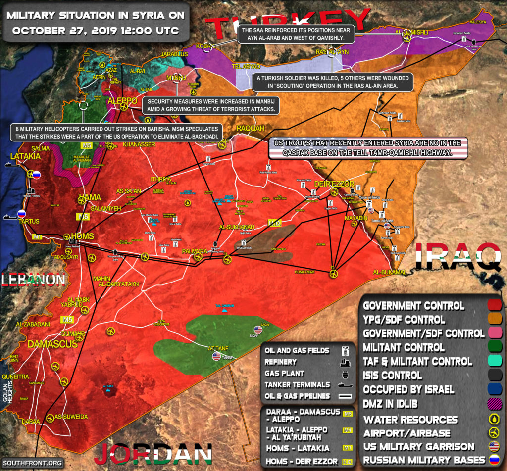 Military Situation In Syria On October 27, 2019 (Map Update)