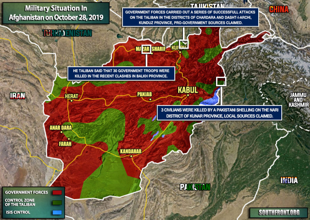 Military Situation In Afghanistan On October 28, 2019 (Map Update)