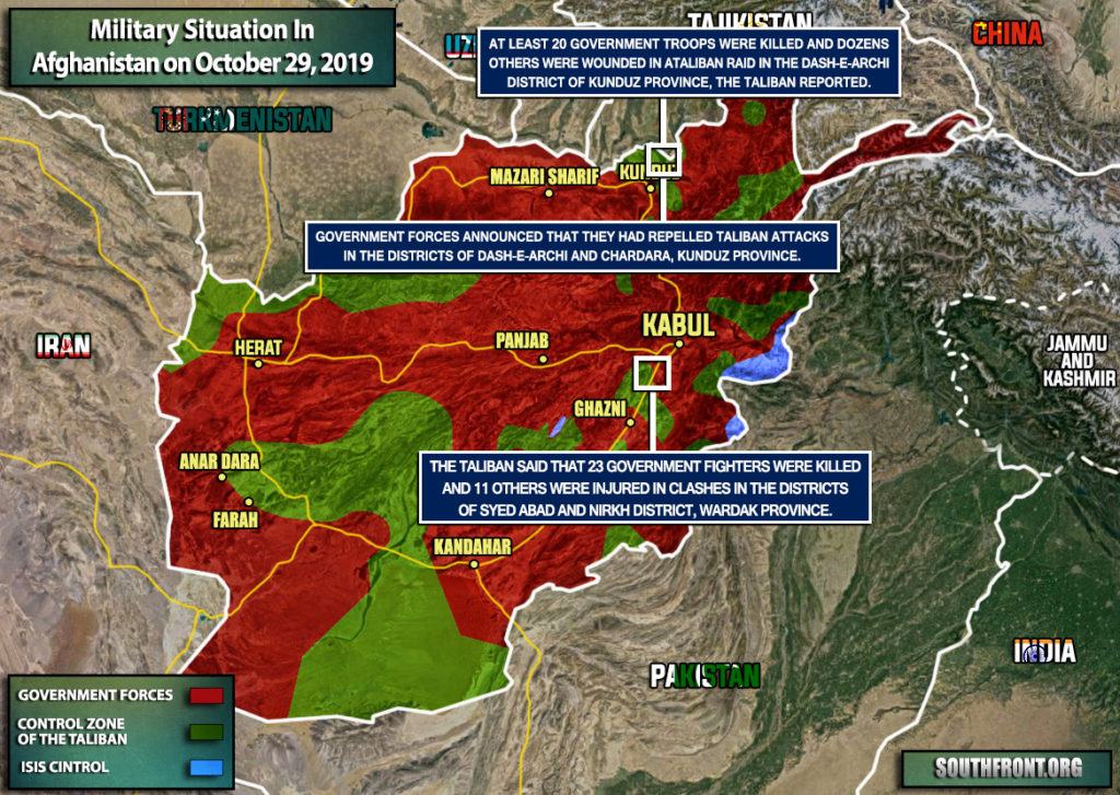 Military Situation In Afghanistan On October 29, 2019 (Map Update)