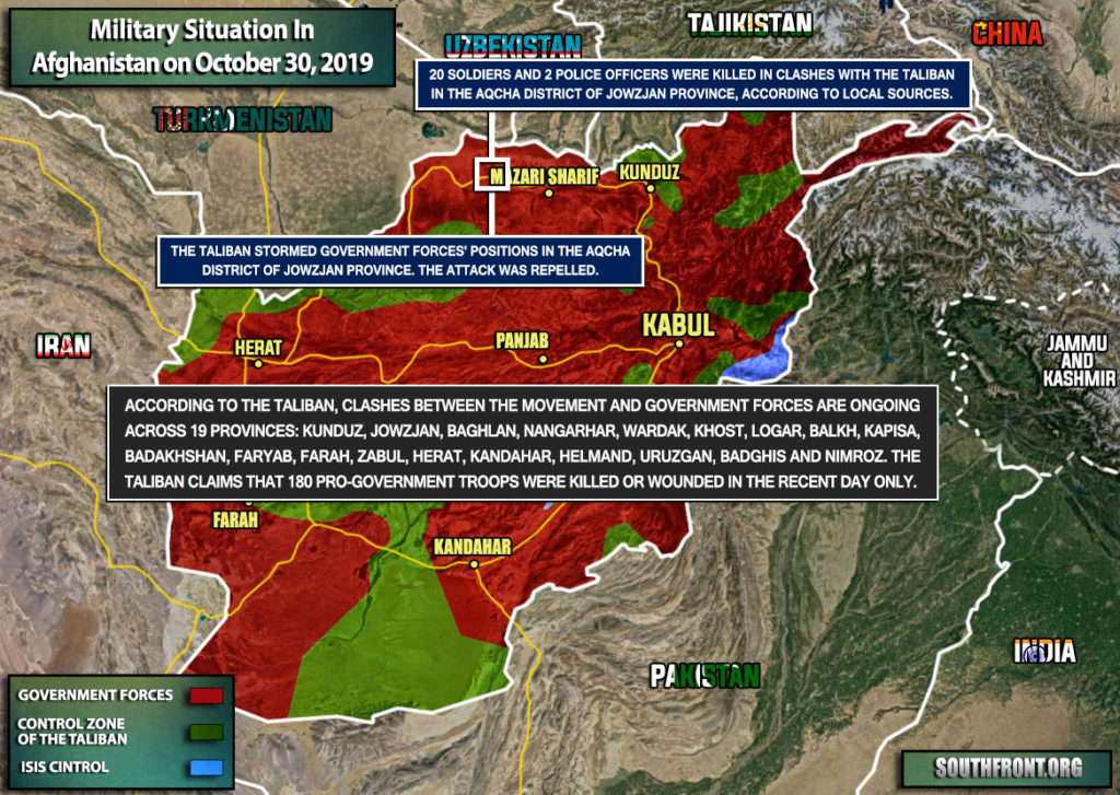 Military Situation In Afghanistan On October 30, 2019 (Map Update)