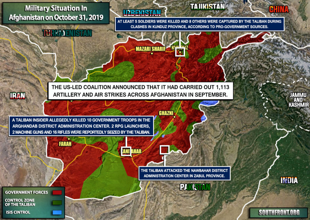 Military Situation In Afghanistan On October 31, 2019 (Map Update)