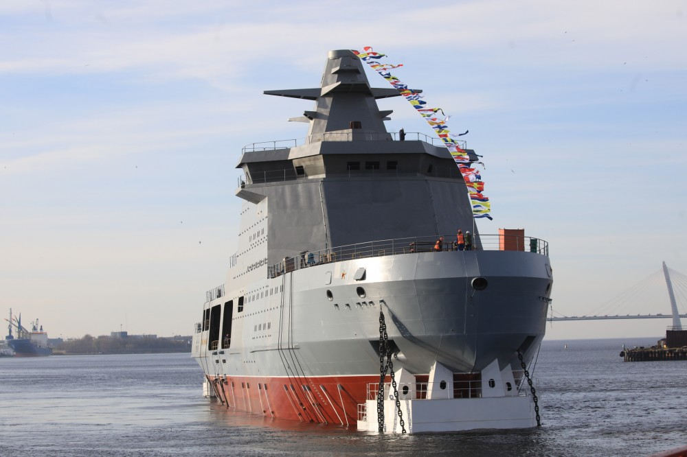 Russia Launches Combat Icebreaker Ivan Papanin Designed For Security Operations In Arctic (Photos, Video)