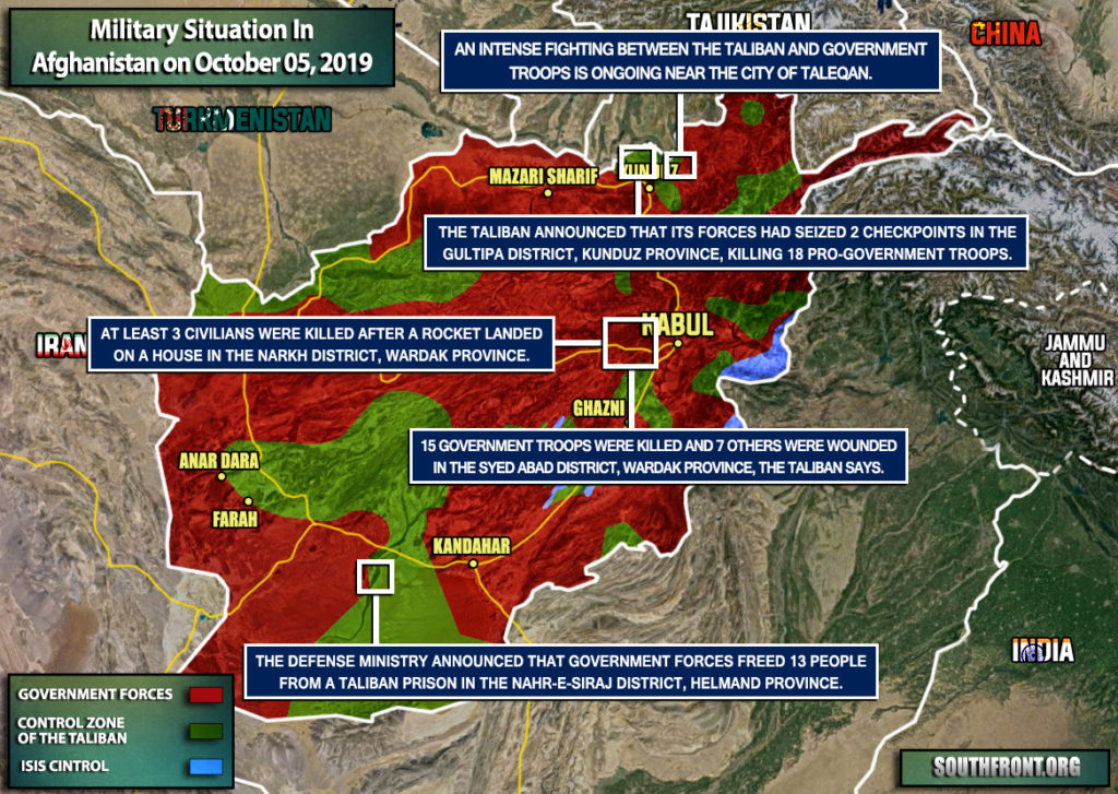 Military Situation In Afghanistan On October 5, 2019 (Map Update)