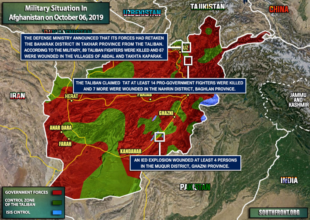 Military Situation In Afghanistan On October 6, 2019 (Map Update)