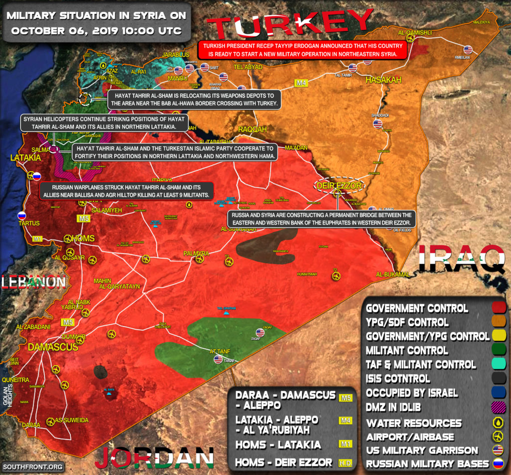 Military Situation In Syria On October 6, 2019 (Map Update)