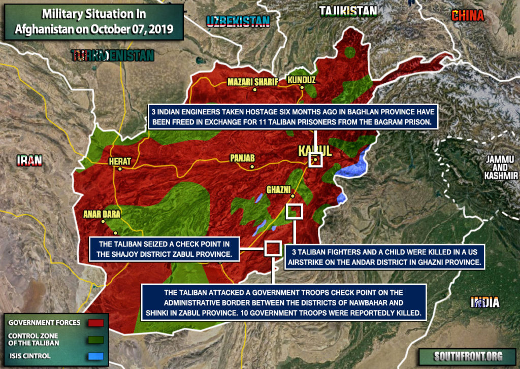 Military Situation In Afghanistan On October 7, 2019 (Map Update)