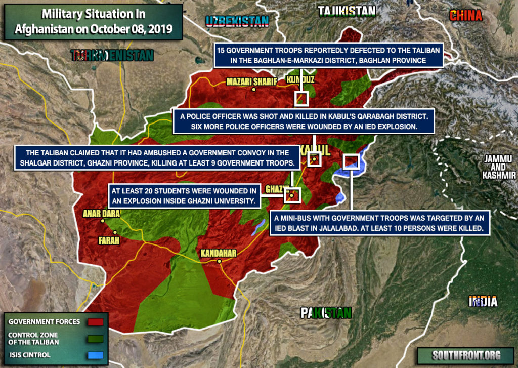 Military Situation In Afghanistan On October 8, 2019 (Map Update)
