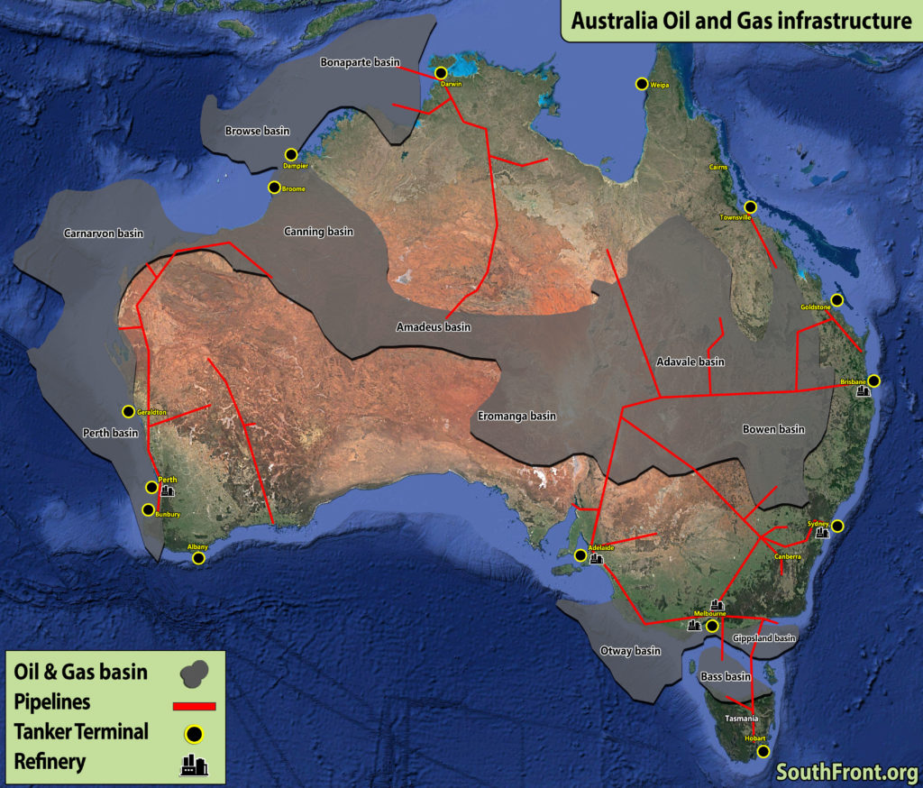 Australia Oil And Gas Infrastructure (Map Update)