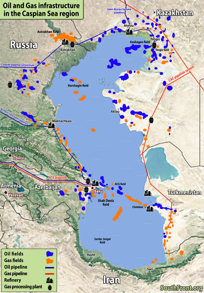 Oil And Gas Infrastructure In The Caspian Sea Region (Map Update)