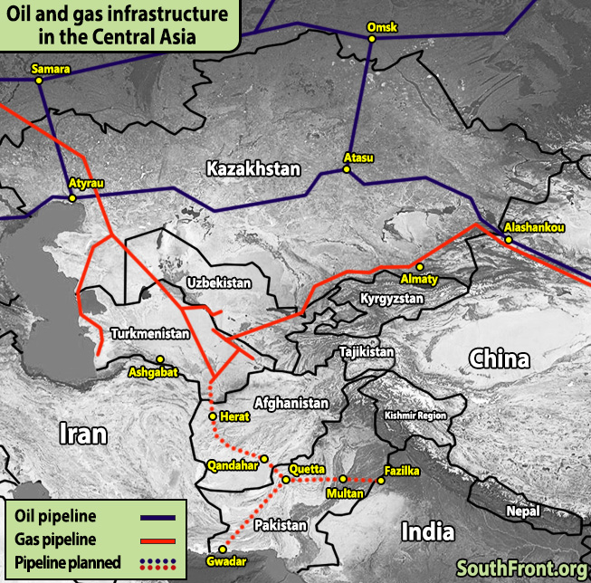 Oil And Gas Infrastructure In Central Asia (Map Update)
