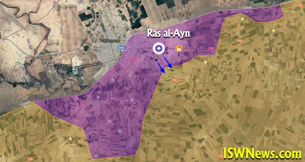 Turkey-led Forces Captured YPG Stronghold Of Ras Al-Ayn (Map, Video)