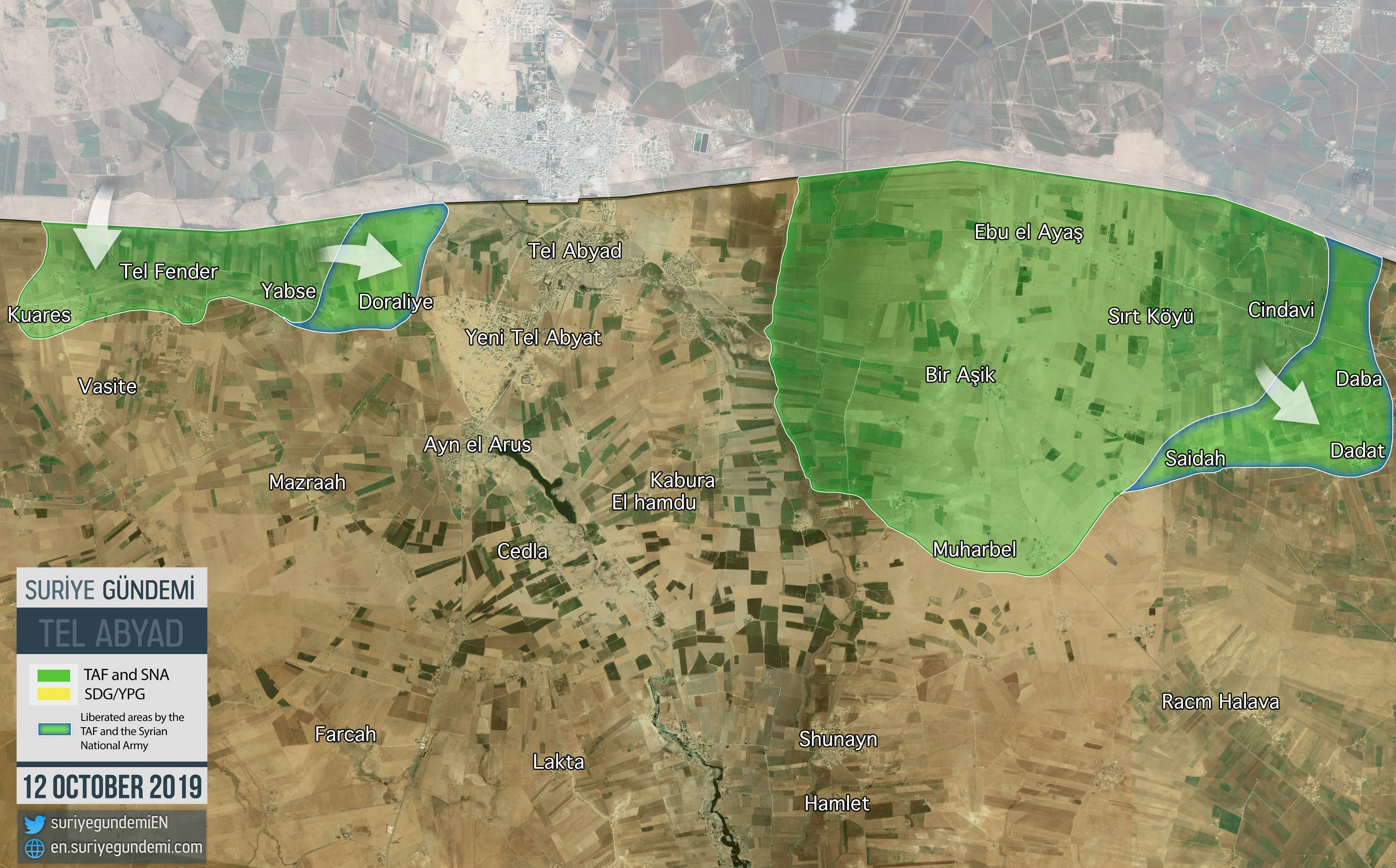 Turkish Forces Resume Advance Around Tell Abyad (Map, Video)