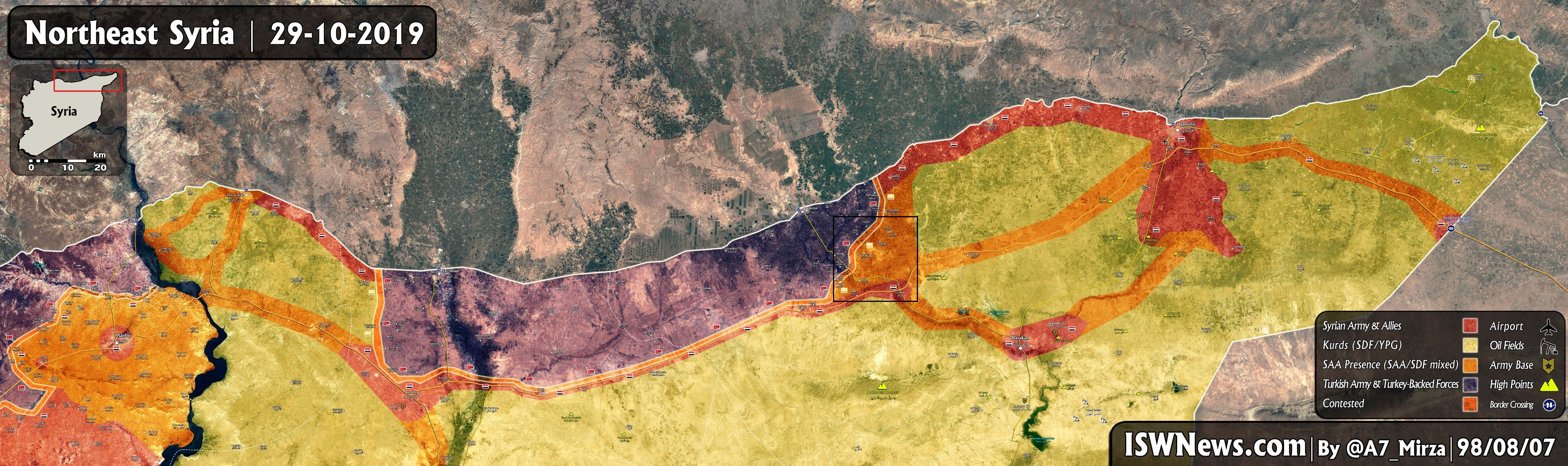 Turkish-Backed Militants Launch Large Attack South Of Ras Al-Ayn, Capture Several Villages