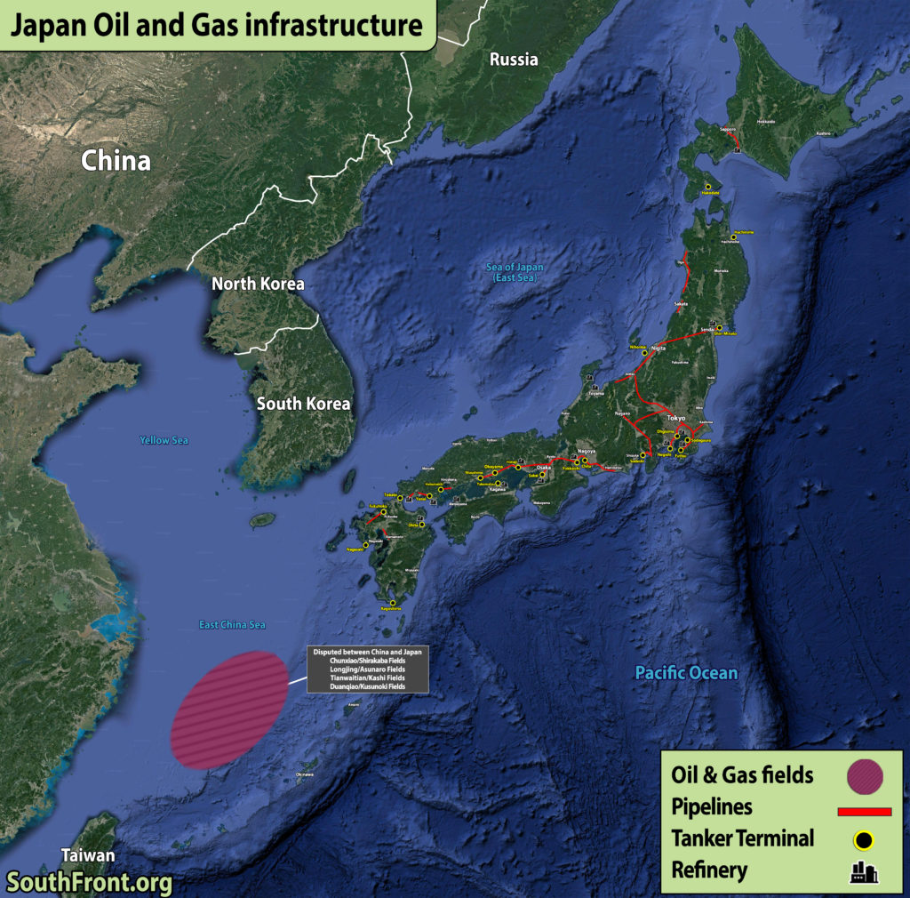 Japan Oil And Gas Infrastructure (Map Update)