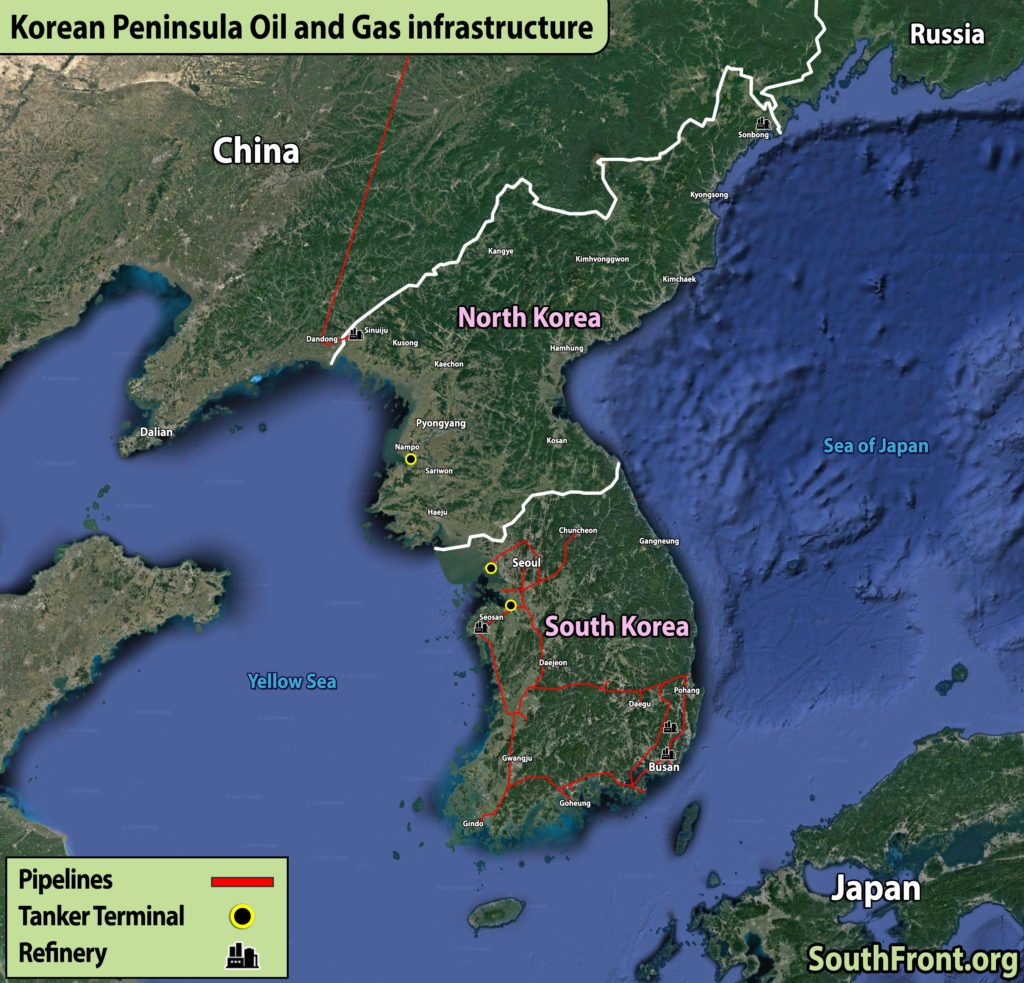 Korean Peninsula Oil And Gas Infrastructure (Map Update)