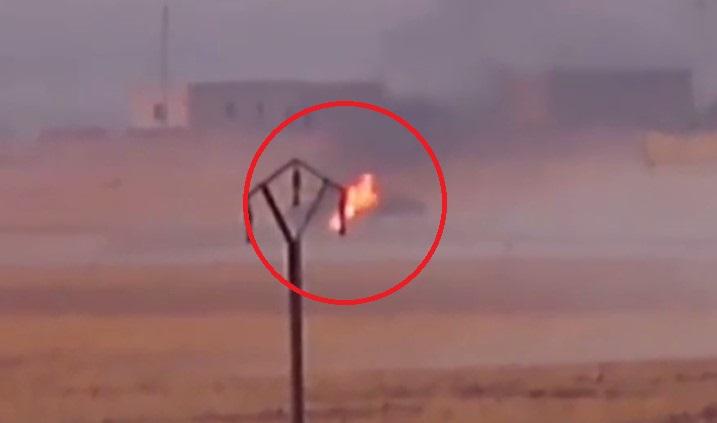 In Video: Kurdish Rebels Target Turkish Armoured Vehicle In Northeastern Syria