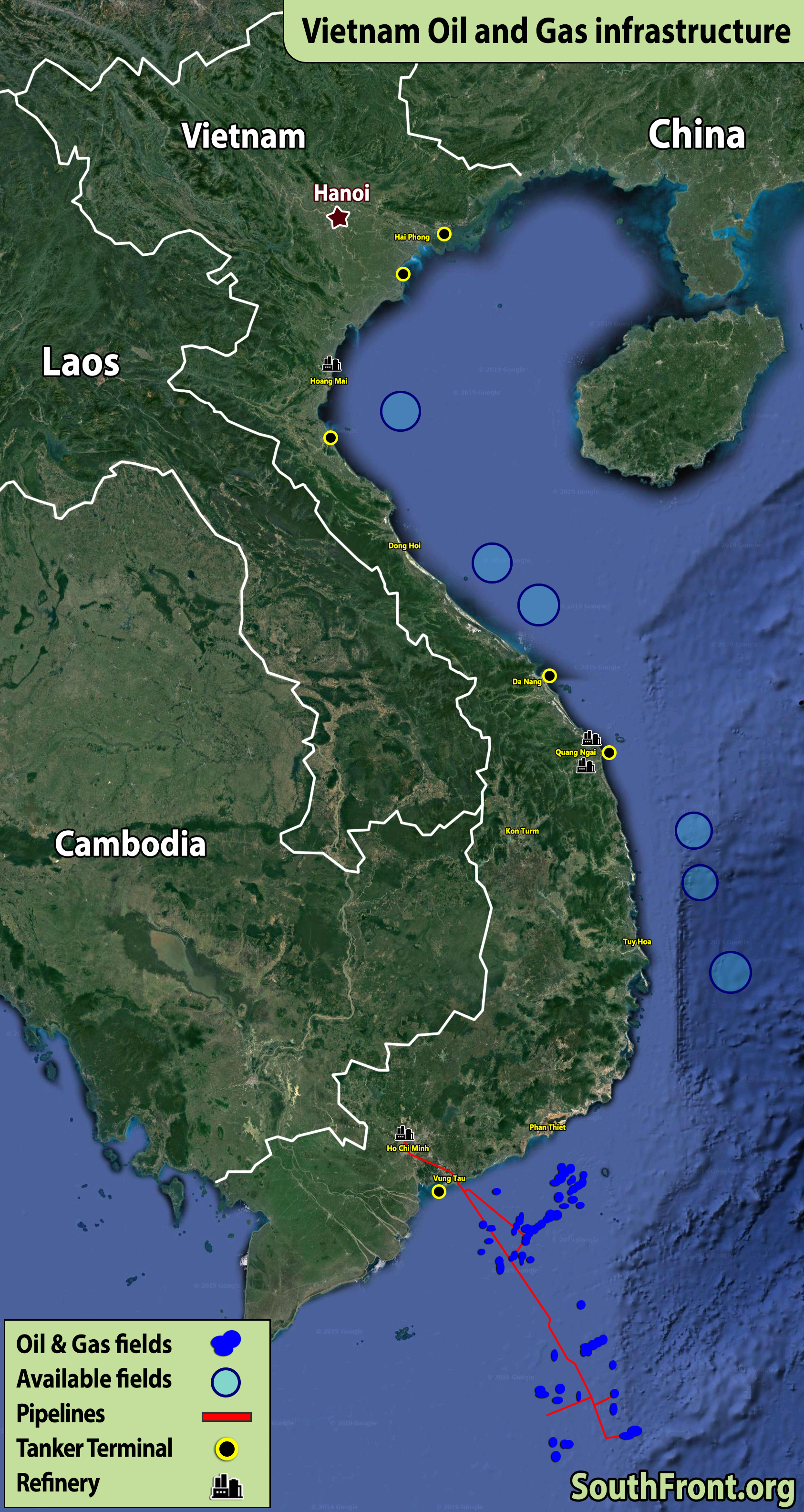 Vietnam Oil And Gas Infrastructure (Map Update)