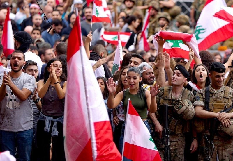 Anti-Government Protests In Lebanon Continue For Week