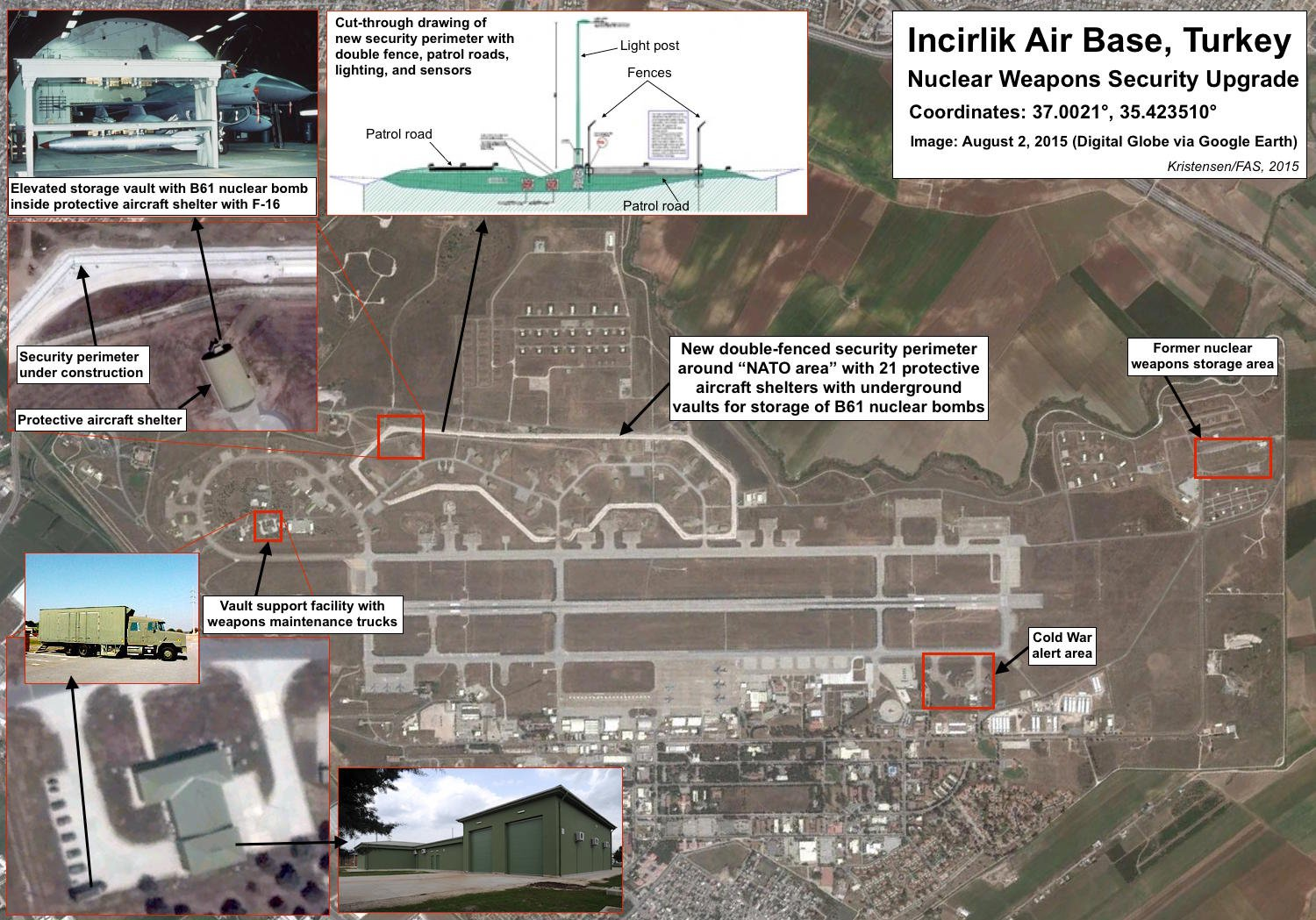 US Considering Ways To Remove B61 Nuclear Bombs From Incirlik Air Base, Turkey: US Media