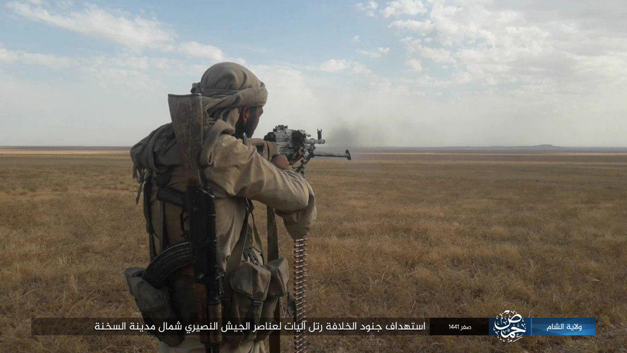ISIS Terrorists Ambush Government Forces Convoy In Eastern Homs, Kill 17 Fighters (Photos)