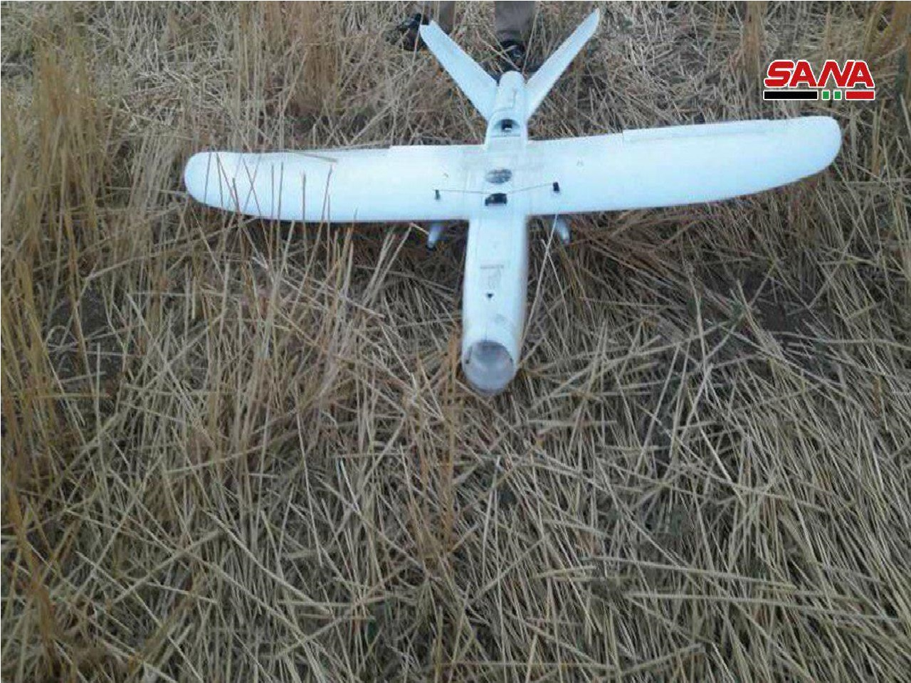 Syrian Army Shoots Down Armed Drone South Of Ras Al-Ayn (Photos)