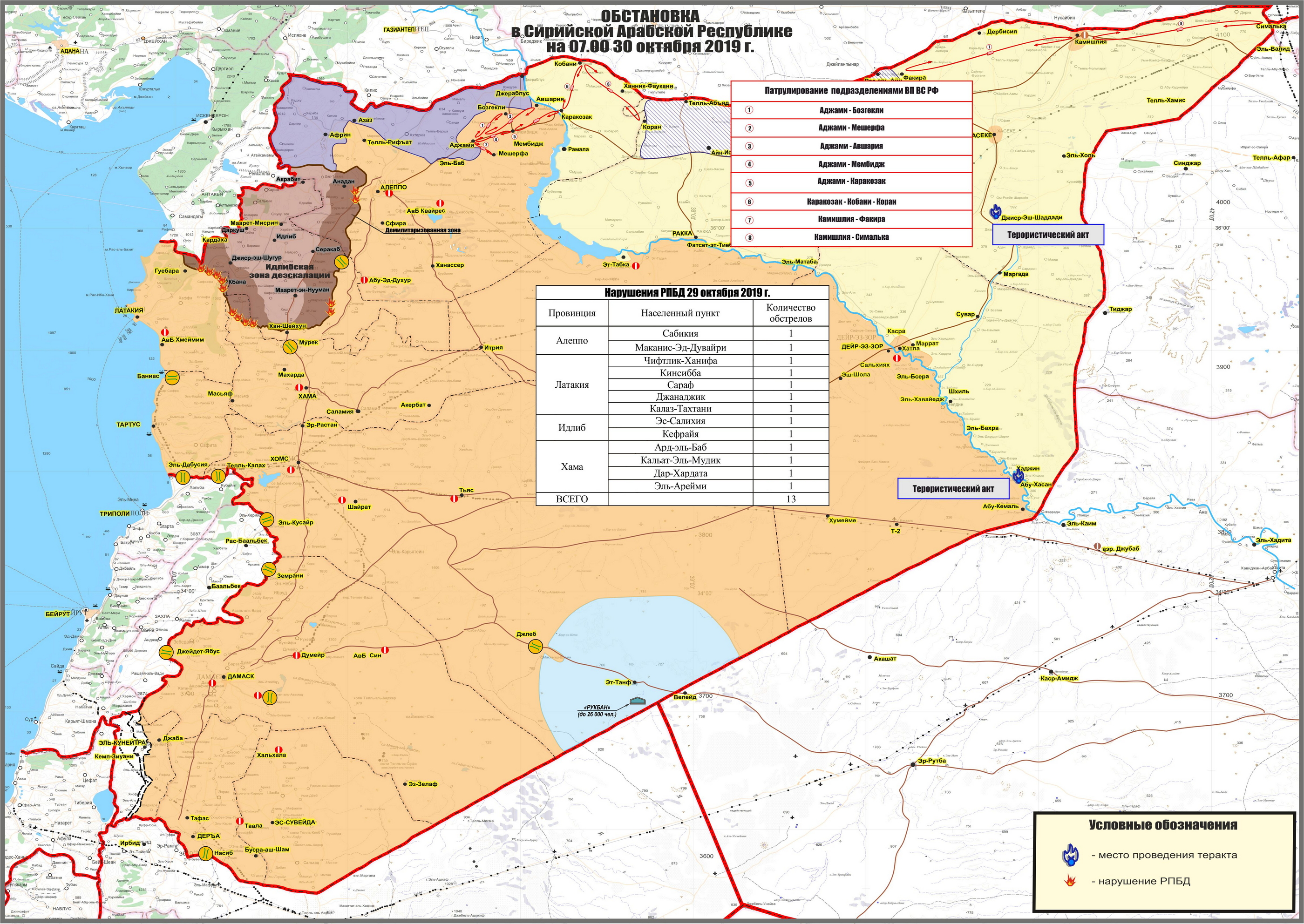 Russian MoD Reveals Routes Of Patrols In Northeast Syria (Map)
