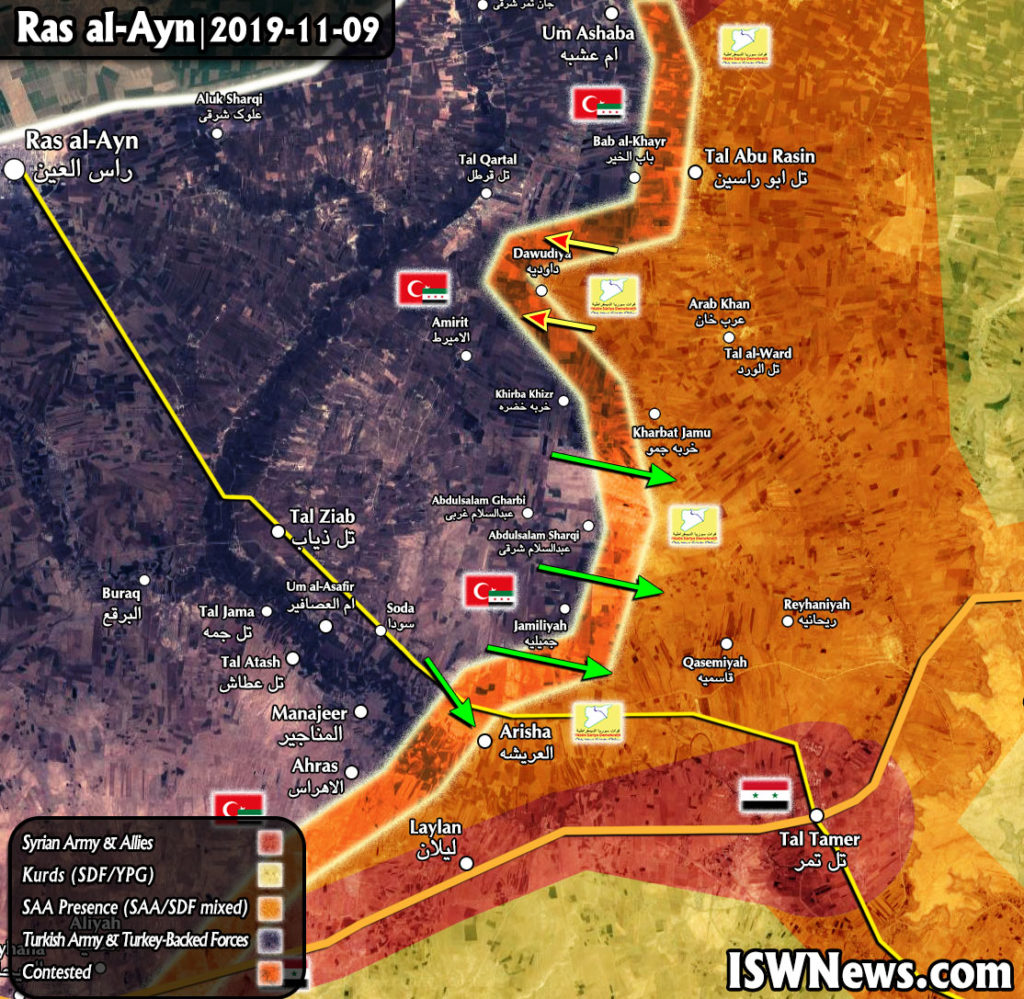Map Update: Military Situation In Syria's Ras Al-Ayn